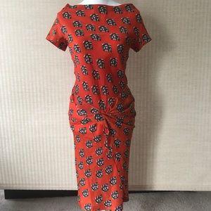 DVF Silk Twist Front Midi Dress NWOT